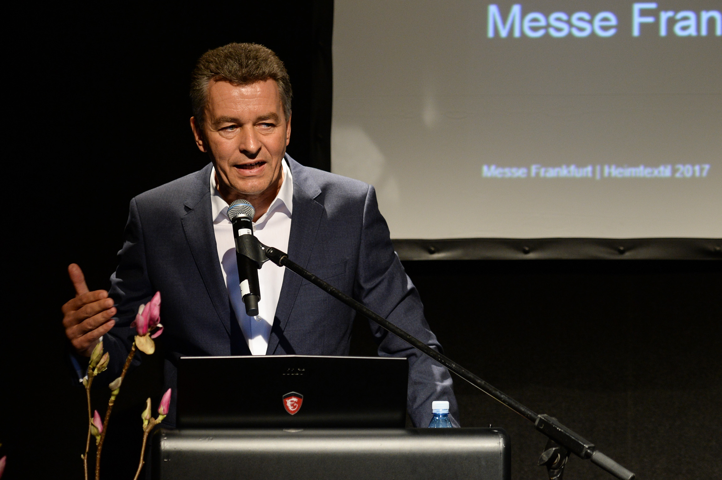 Opening press conference, Detlef Braun, Member of the Executive Board of MesseFrankfurt Exhibition GmbH