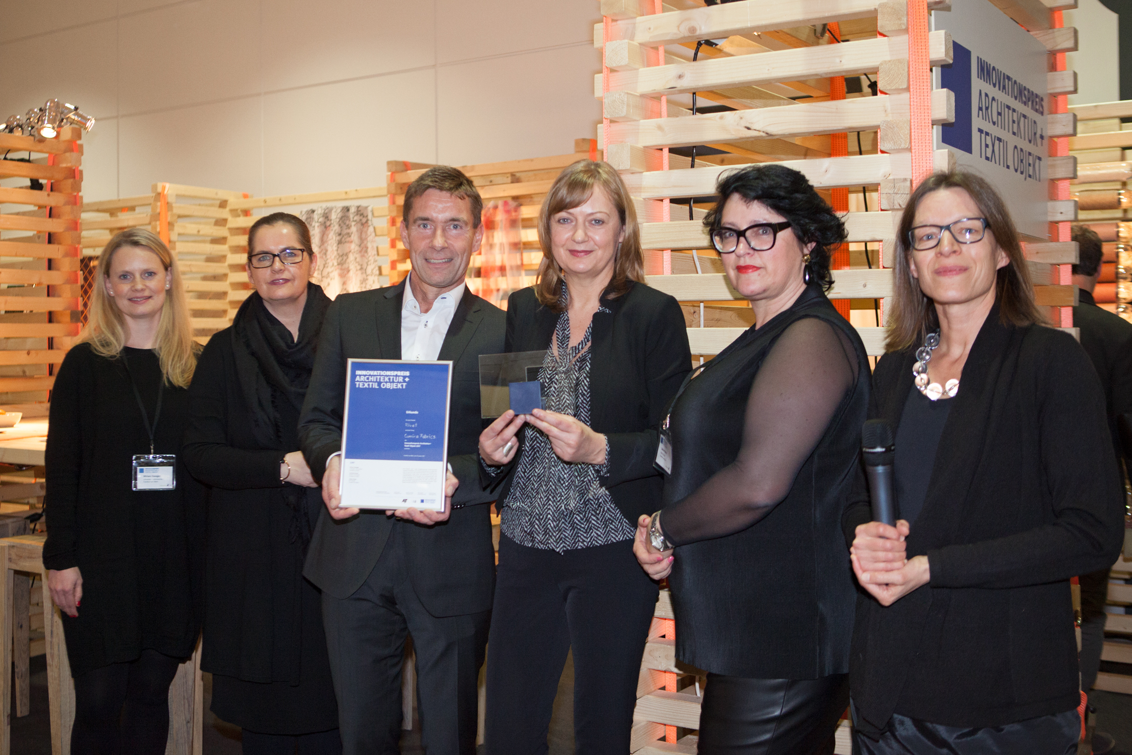 "Innovation Award Winner ""Camira fabrics"""