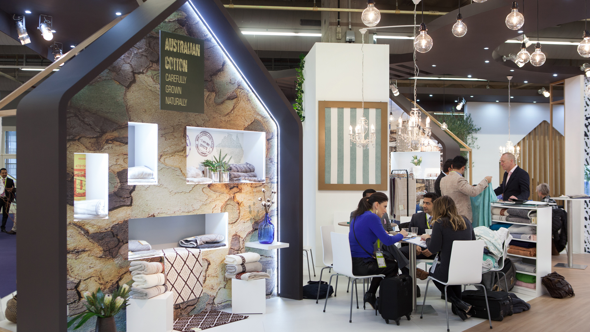 A Heimtextil booth during the last fair