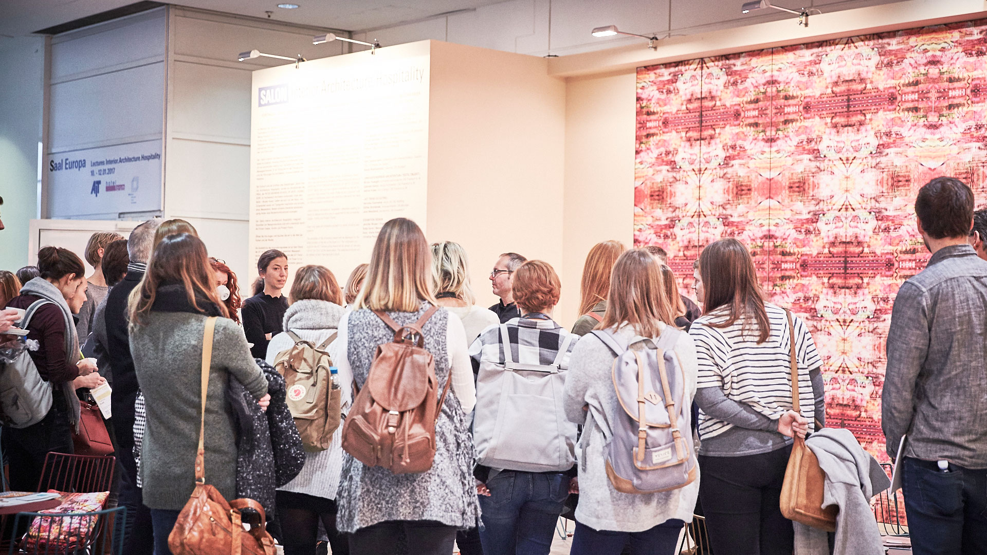 Heimtextil visitors during a Interior.Architecture.Hospitality tour