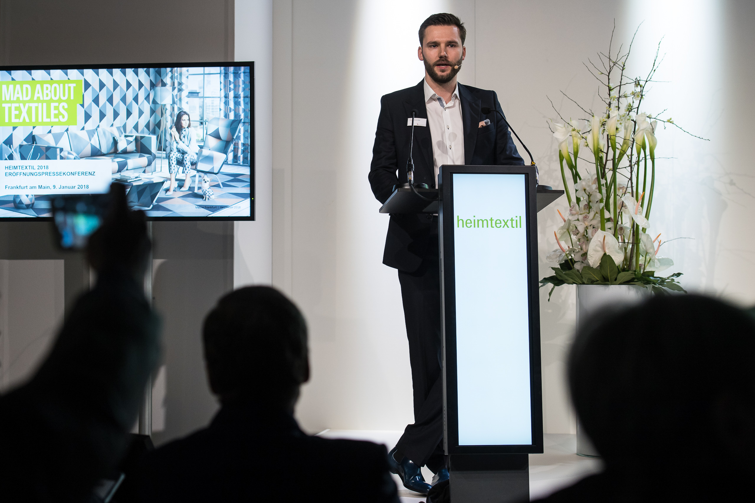 Press conference, Thimo Schwenzfeier, Director Marketing Communications, Textiles & Textile Technologies, Messe Frankfurt Exhibition GmbH