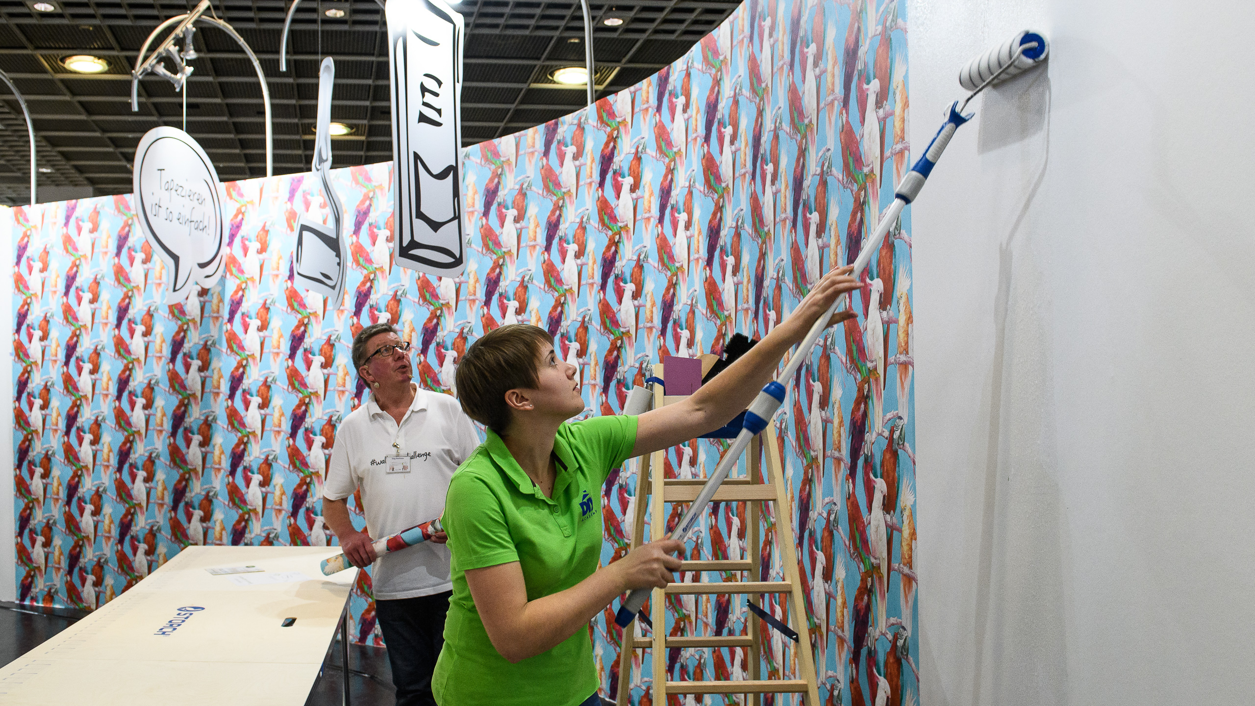 heimtextil-paperhanging-world-record, Miss DIY Kerstin Weiser