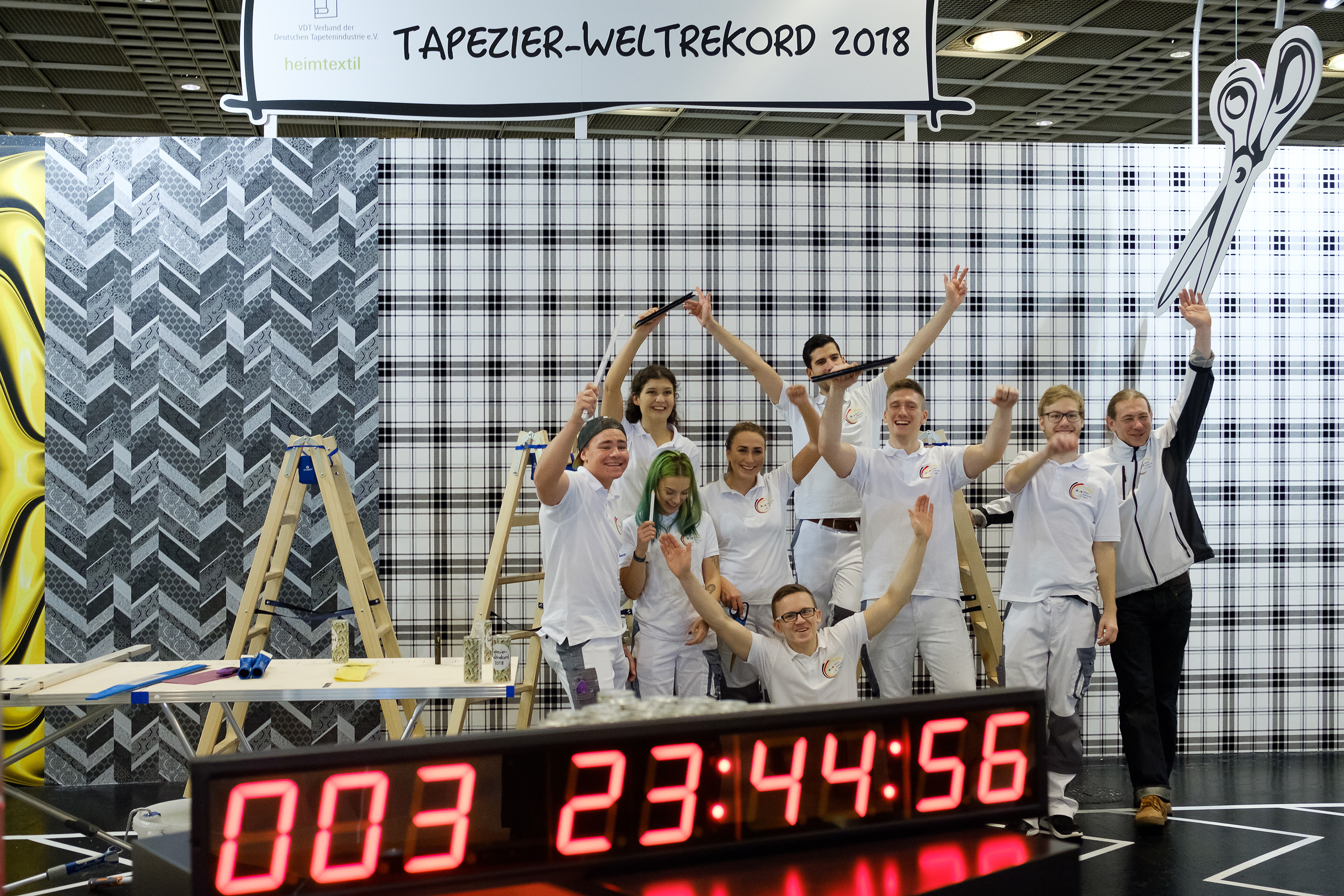 Heimtextil-paperhanging-world record