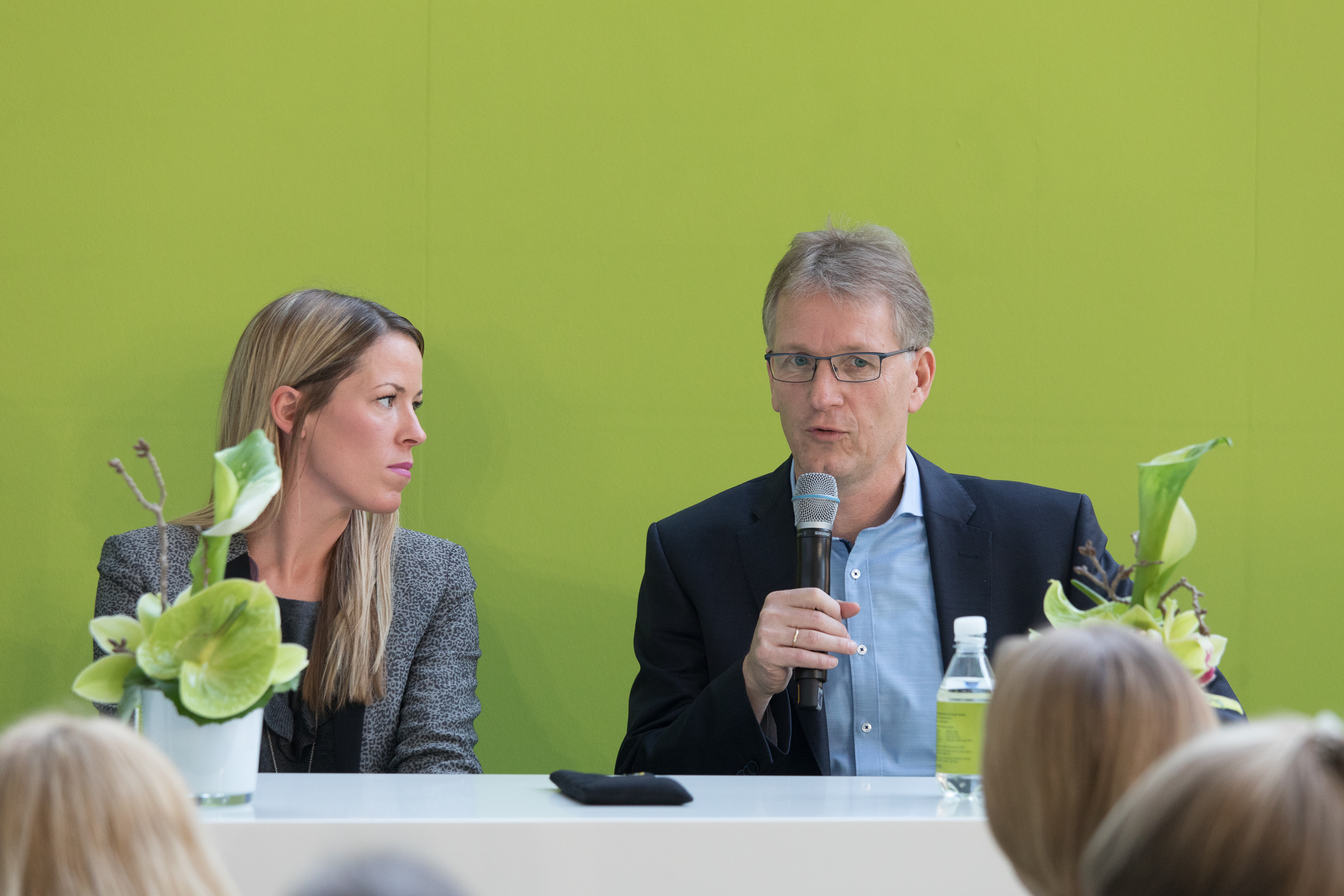 "Green Village, Panel Discussion ""Sustainable Cotton"" Laura Chaplin, Ralf Hellmann"