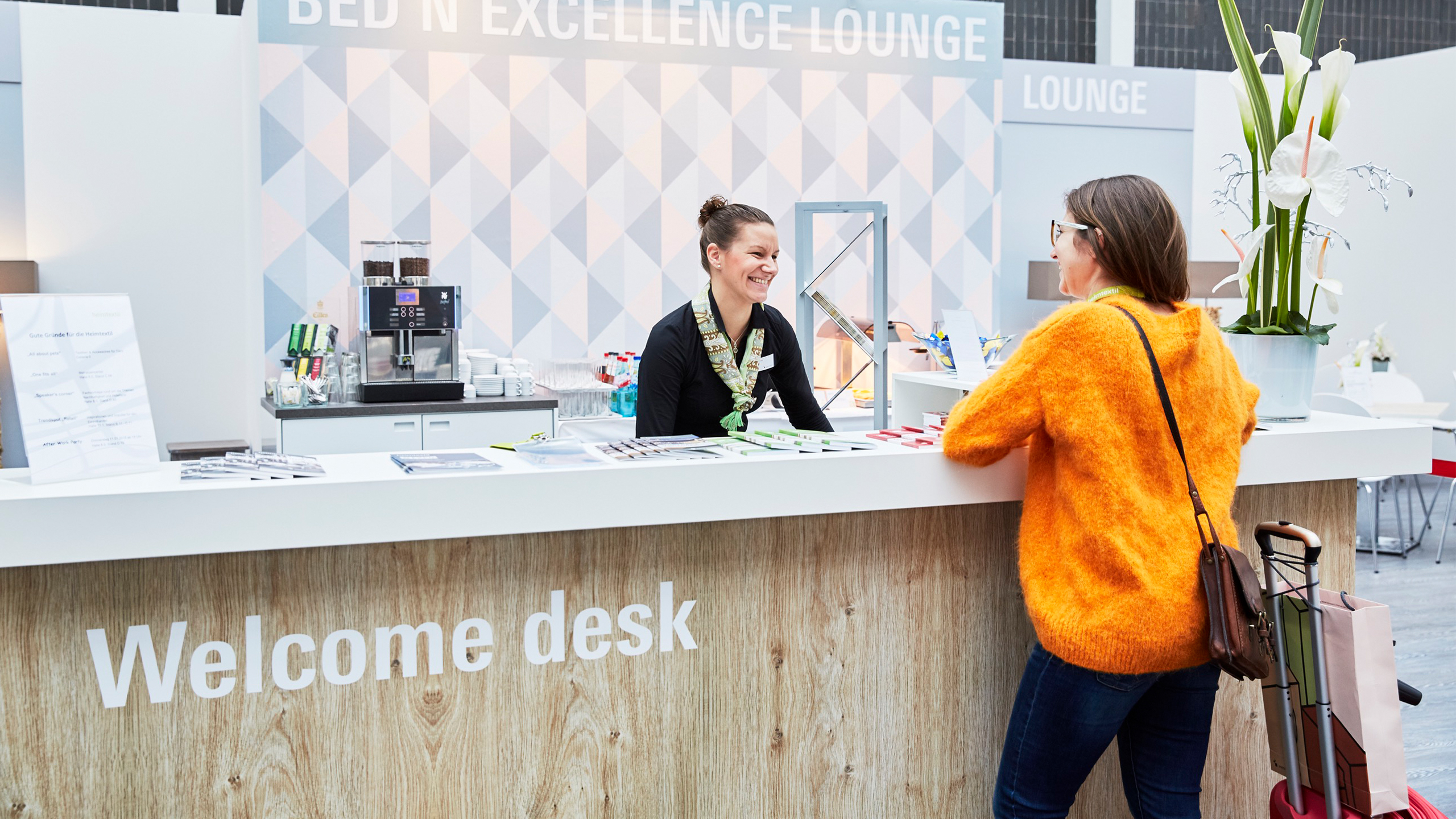 Welcome Desk im  Bed´n Excellence Areal