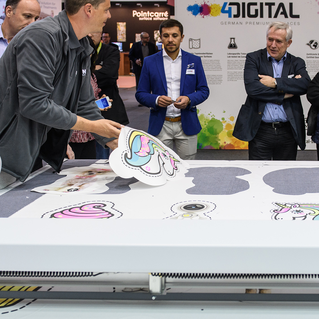 Digital print technology presentation at Heimtextil 2018