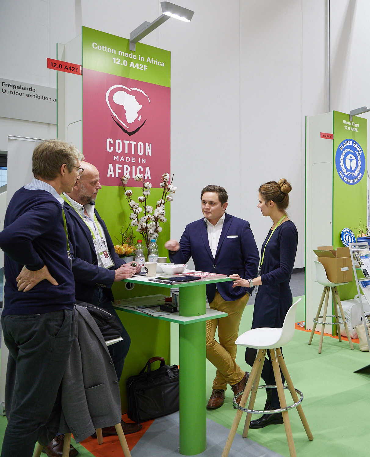 Green Village area during the Heimtextil