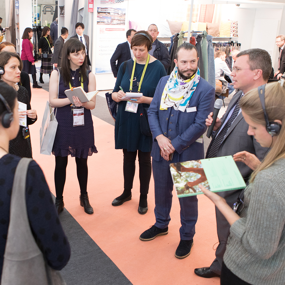 Green Tours with Max Gilgenmann during the last Heimtextil