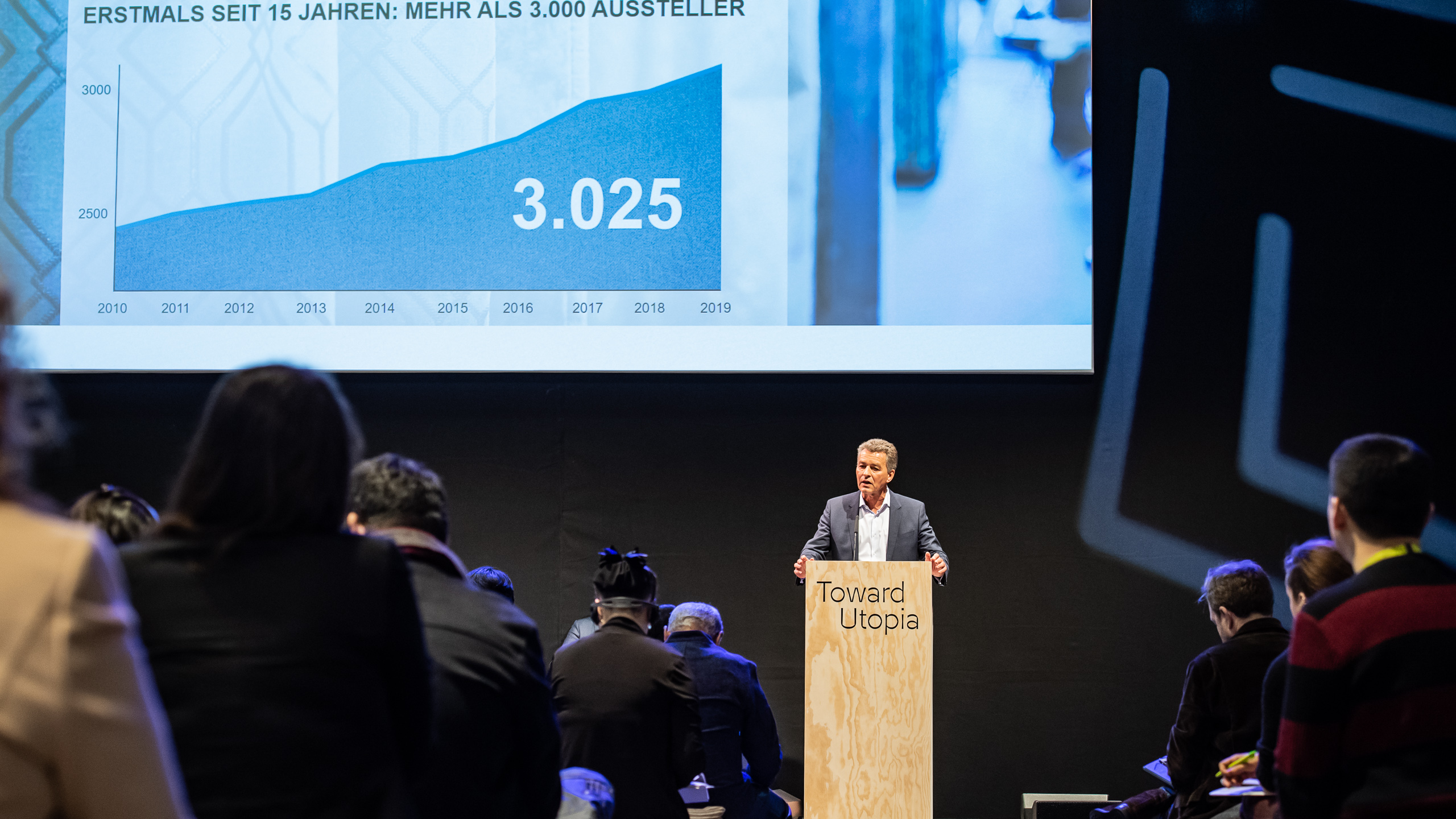 Press conference, Detlef Braun, Member of the executive Board, Messe Frankfurt GmbH