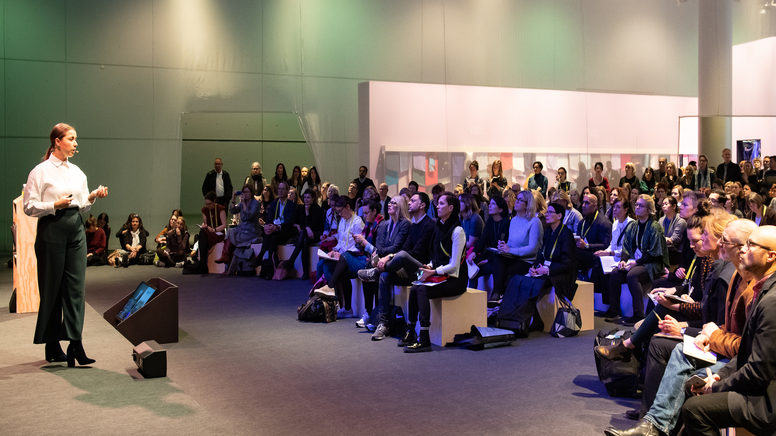 Trend space lecture area (Anja Bisgaard Gaede, SPOTT trends & business)