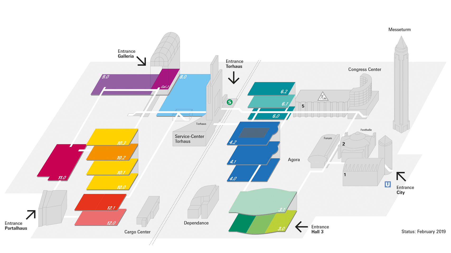 Hall plan of the new Heimtextil 2020