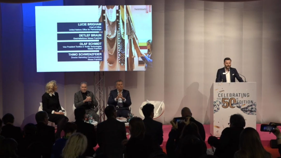 Live video broadcast of the Heimtextil Press Conference Kick off
