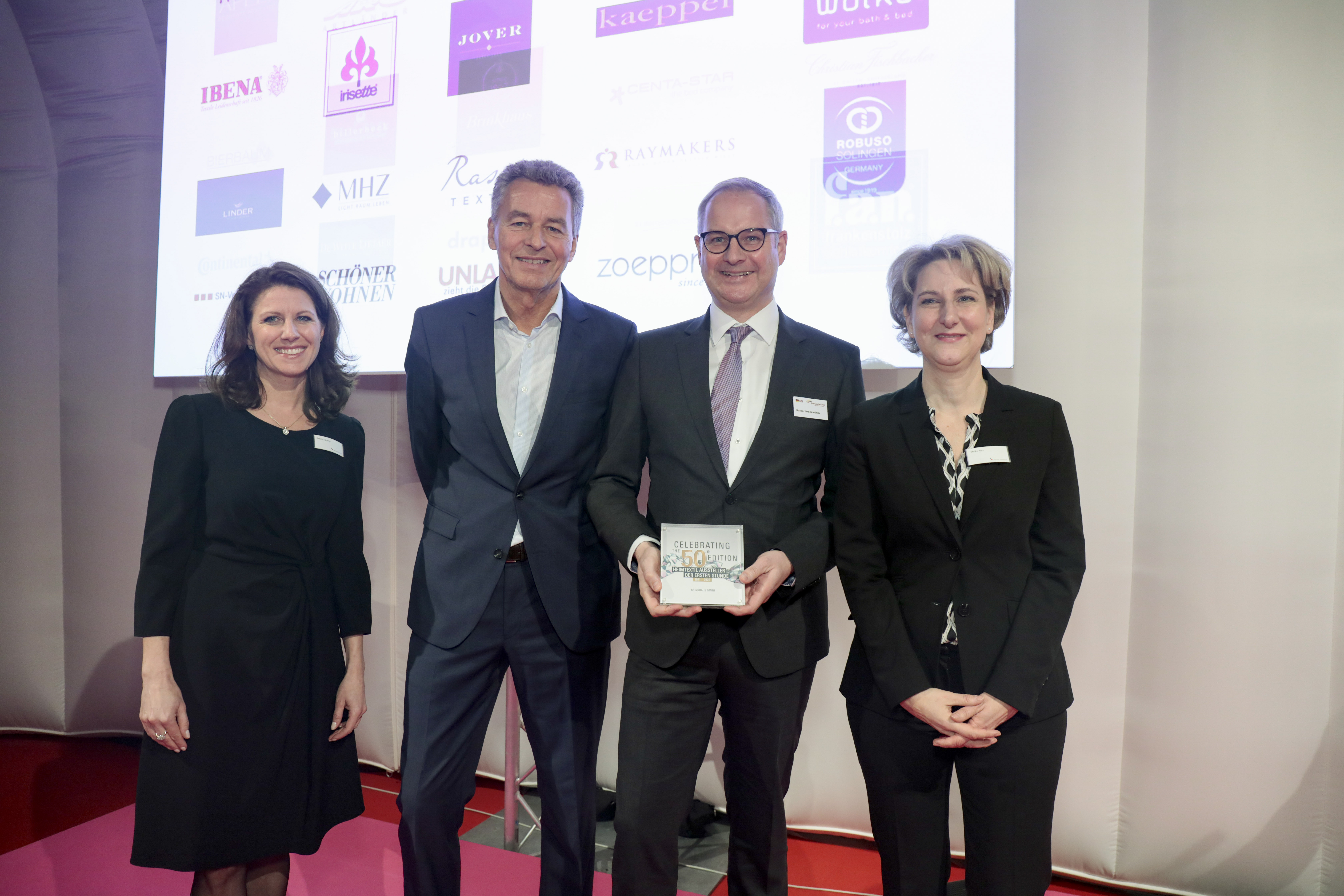Awards ceremony for exhibitors from the very beginning / Brinkhaus GmbH