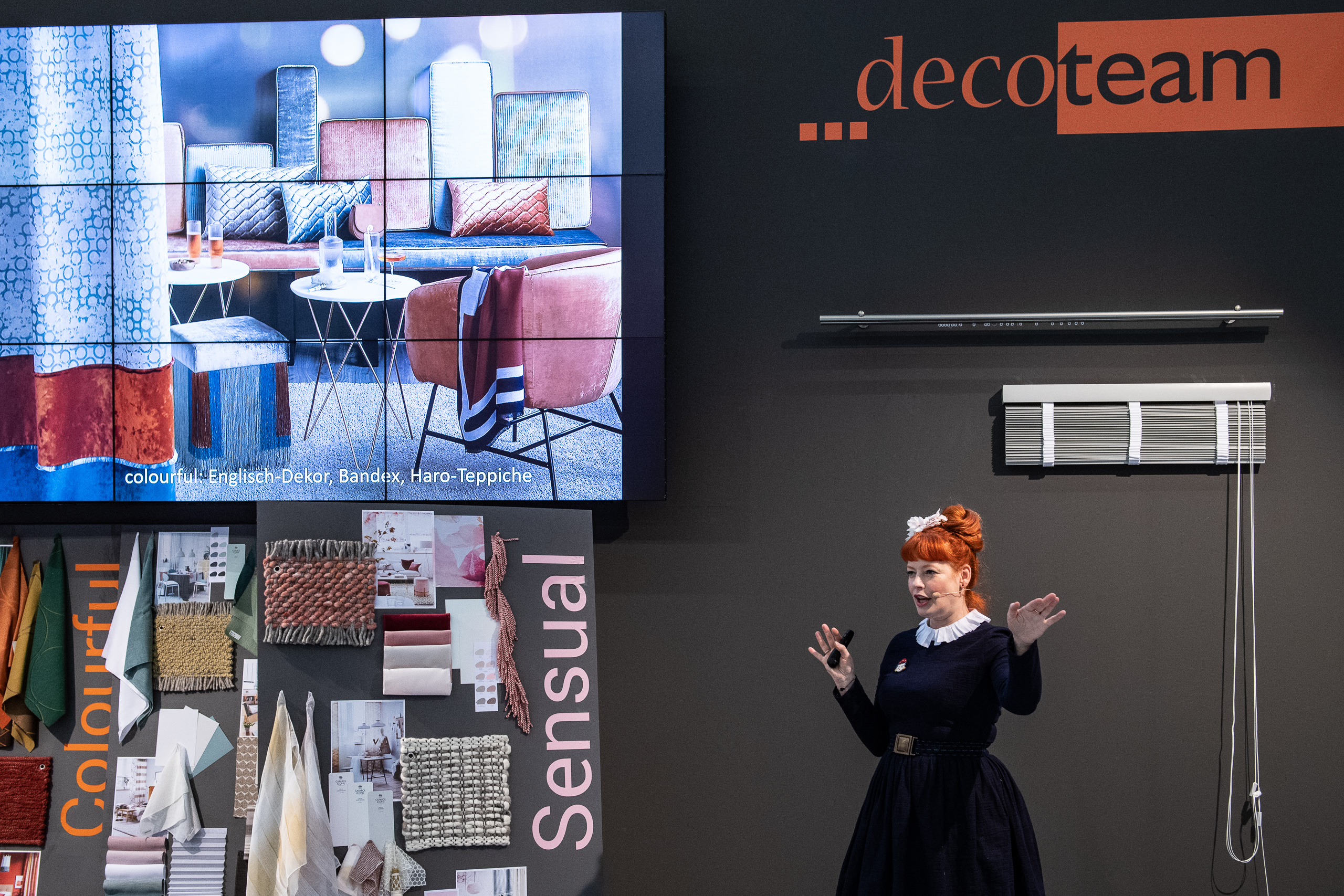 Heimtextil 2020 Deco Team /  Enie van de Meiklokjes at the decoteam booth