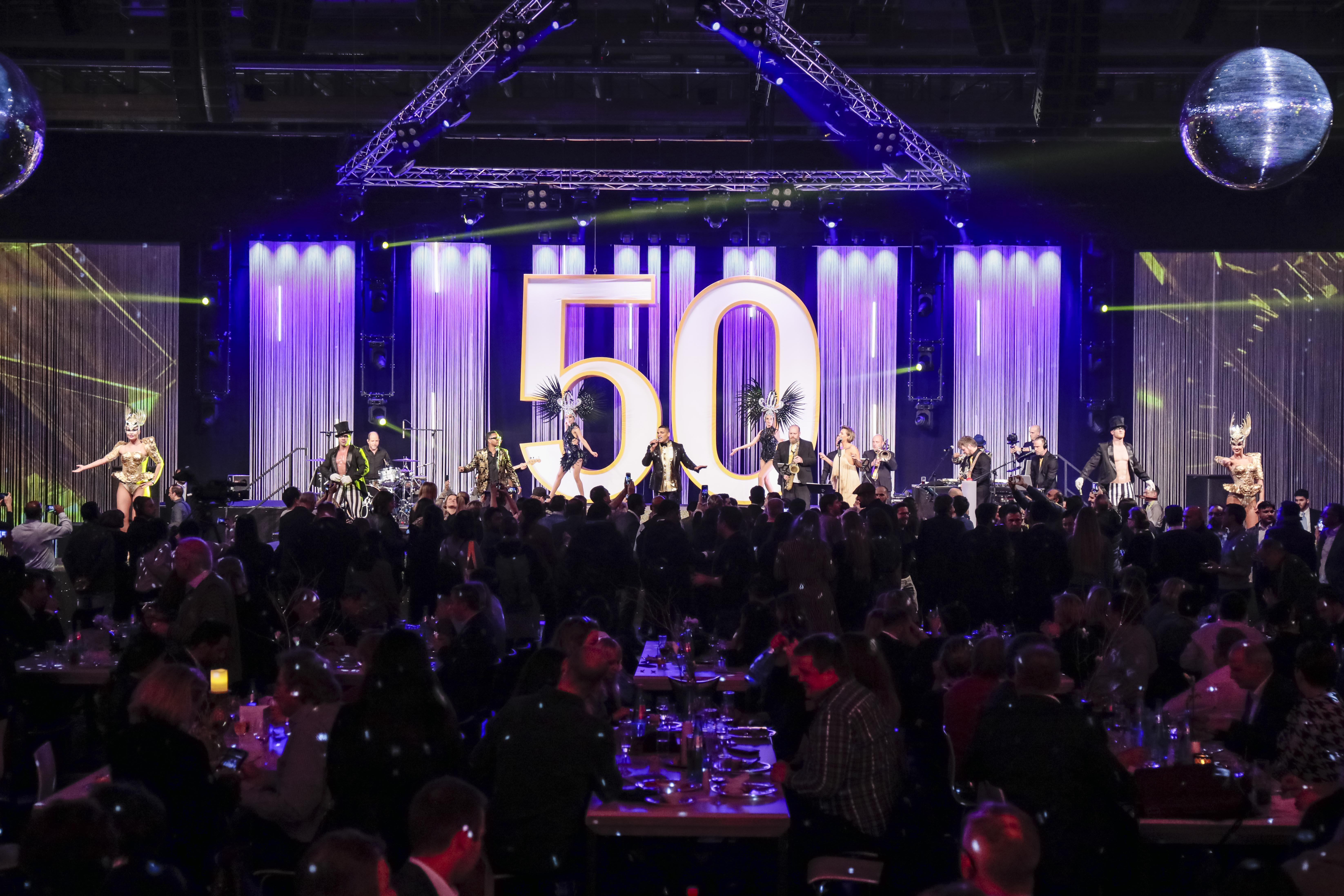 Heimtextil at Night / celebrating 50 years / Jimmy Wilson Band and dancers
