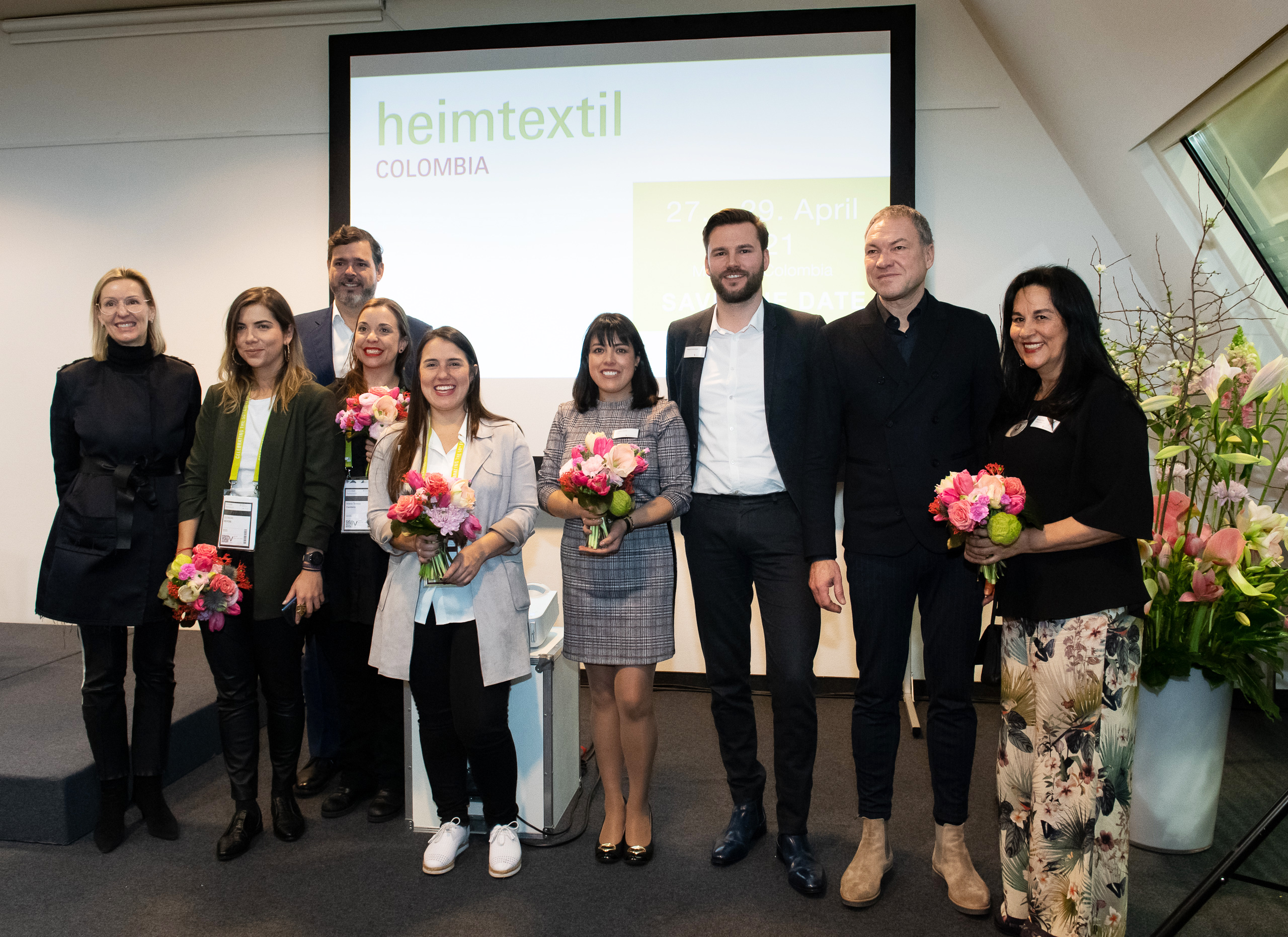 Heimtextil 2020, press conference and signing Heimtextil Colombia