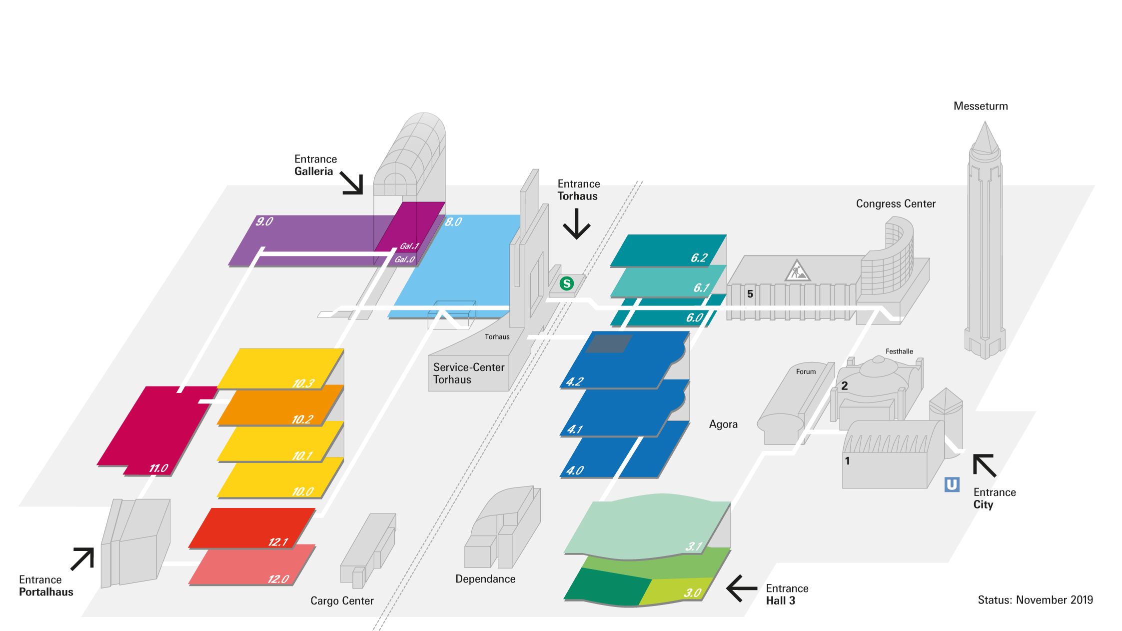 Fair ground plan Heimtextil 2020